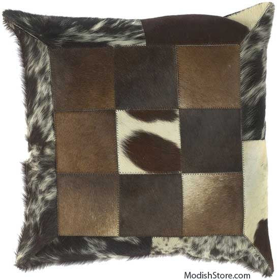 Surya Leather Pillow