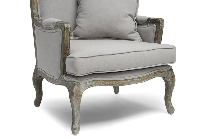 Baxton Studio Constanza Classic Antiqued French Accent Chair