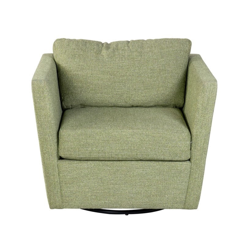 Soma Polyester Swivel Club Chair by Jeffan