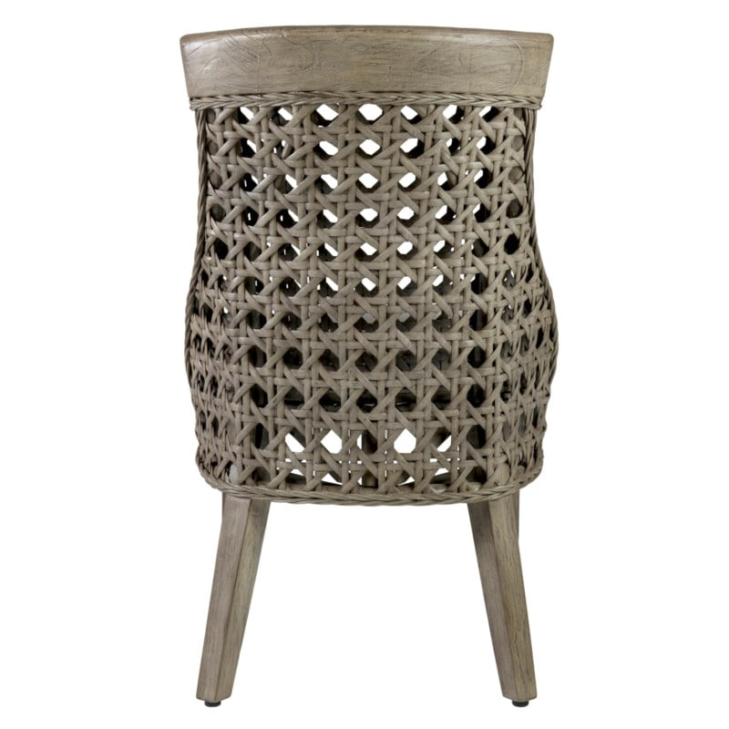 Sahara Rattan Side Chair w/ Wood Accent Set of 2 by Jeffan