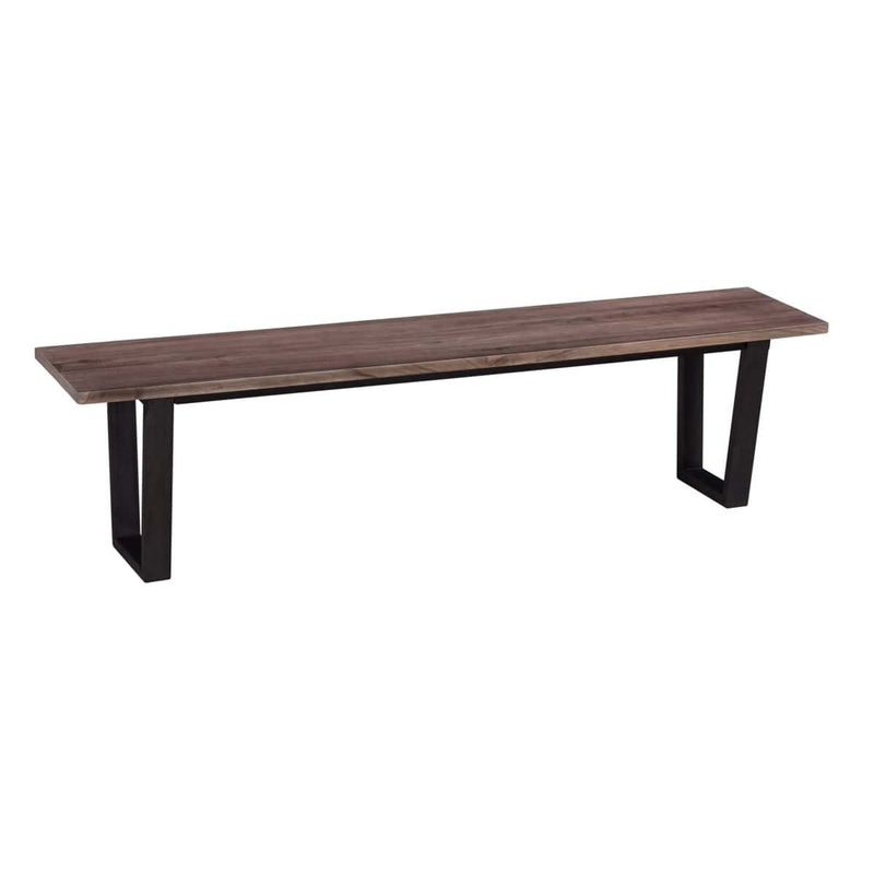 "(LS) Thomas 67"" wood bench with metal base - K/D by Jeffan"