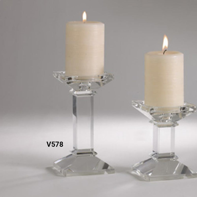 Saro Crystal Candle Holder - Set of 2