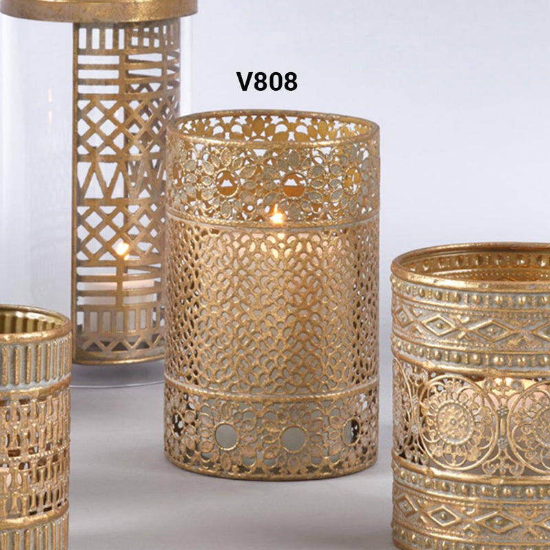 Saro Iron Votive - V808 - Set Of 4