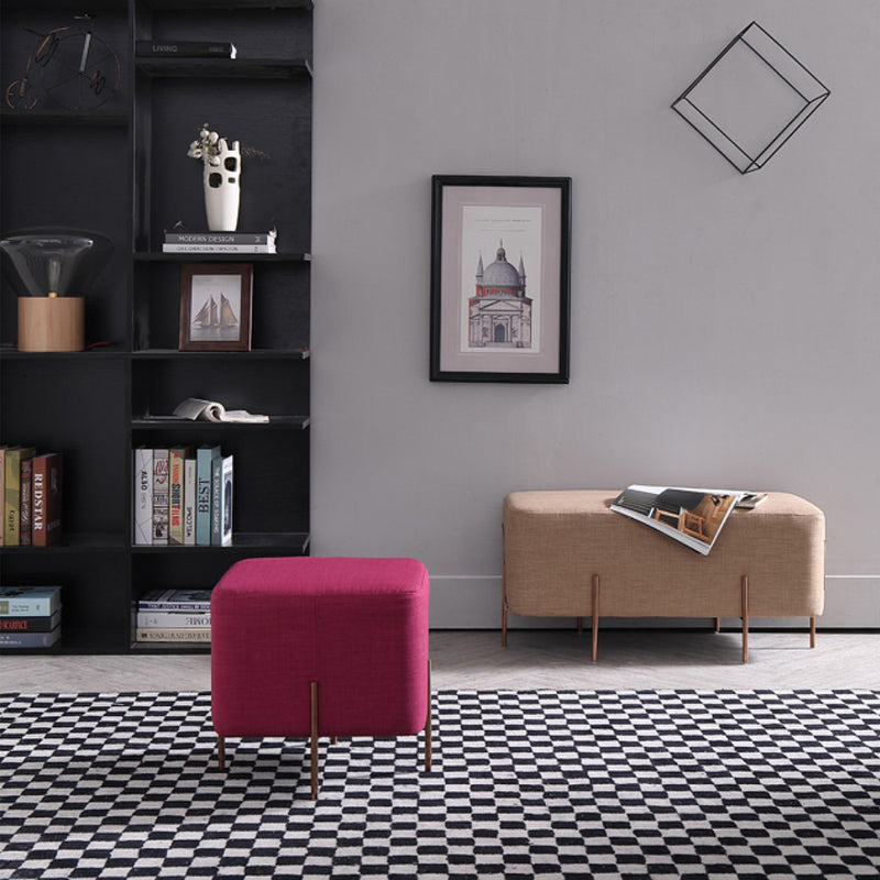 Vig Furniture Divani Casa Adler Modern Brown Fabric Ottoman