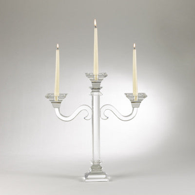 Saro Crystal 3 Candle Holder