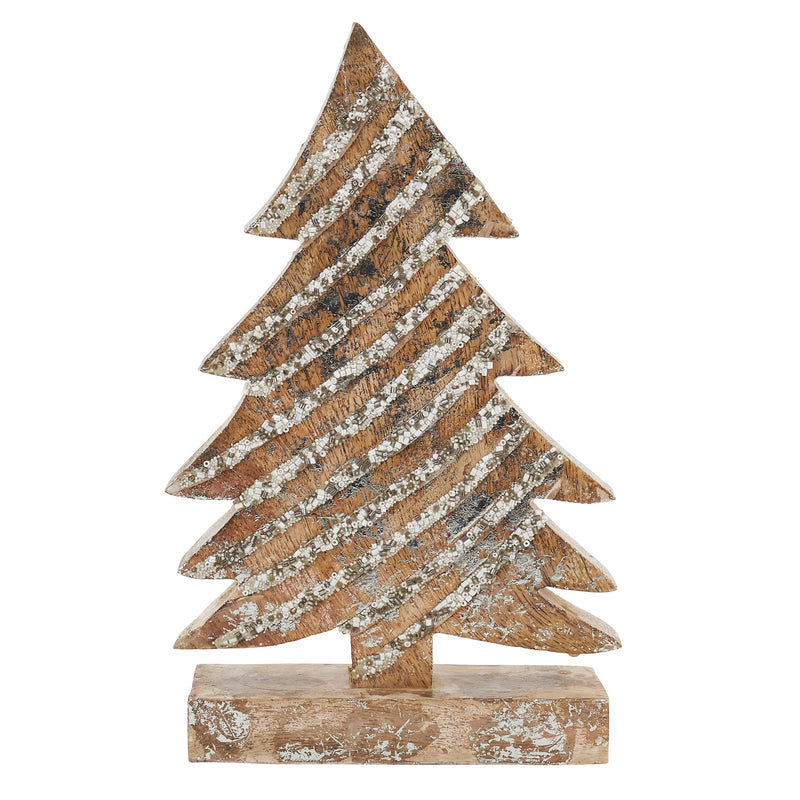 Wooden Christmas Tree By Saro