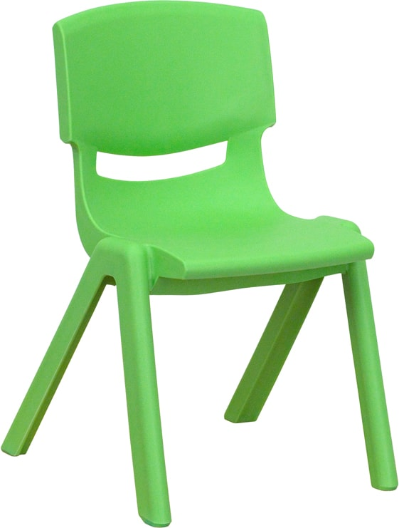 Plastic Stackable School Chair with 12'' Seat Height by Flash Furniture