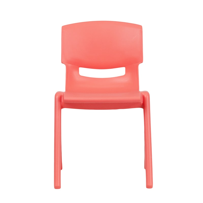Blue Plastic Stackable School Chair with 13.25'' Seat Height by Flash Furniture