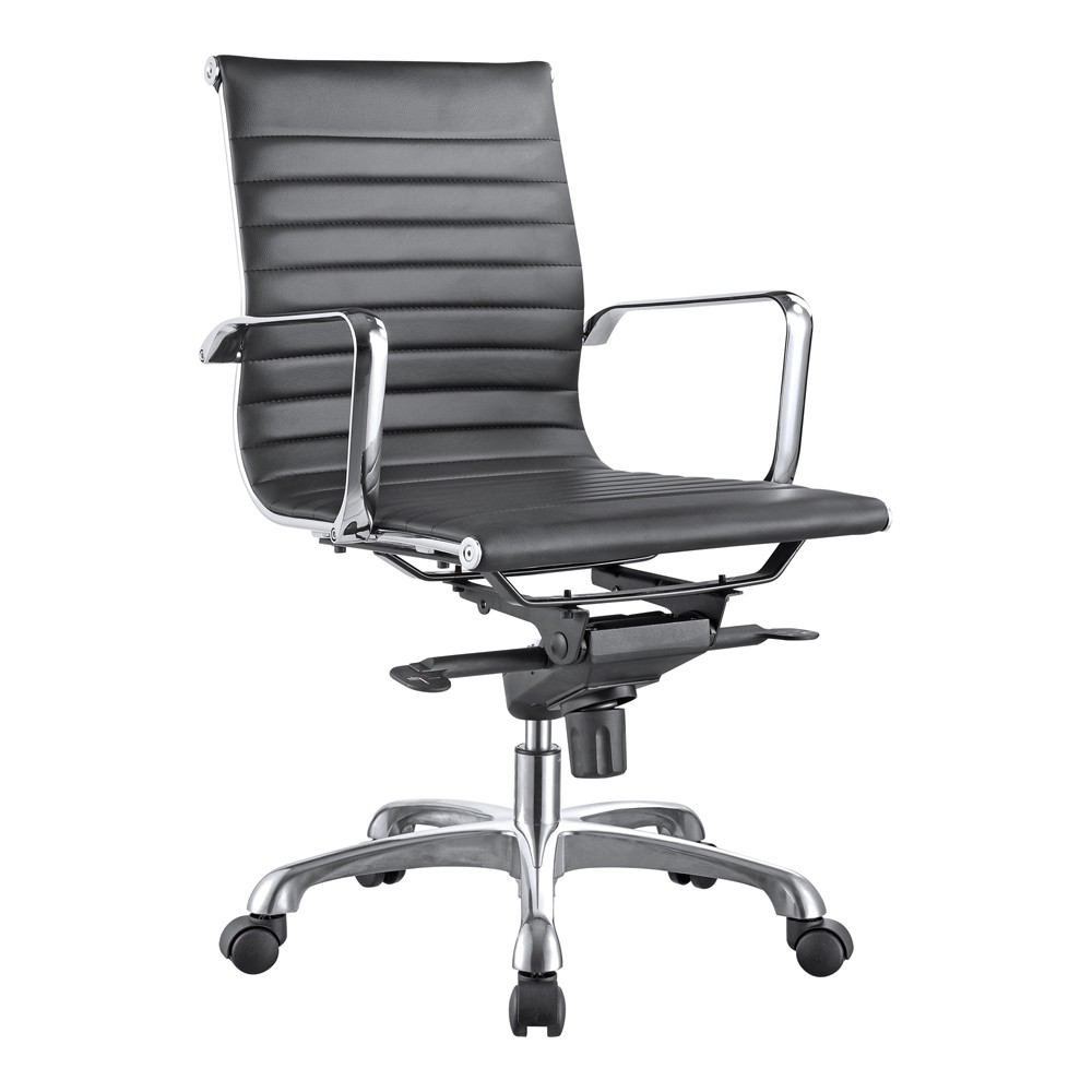 Moe S Home Collection Omega Office Chair Low Back Set Of 2 Modish Store