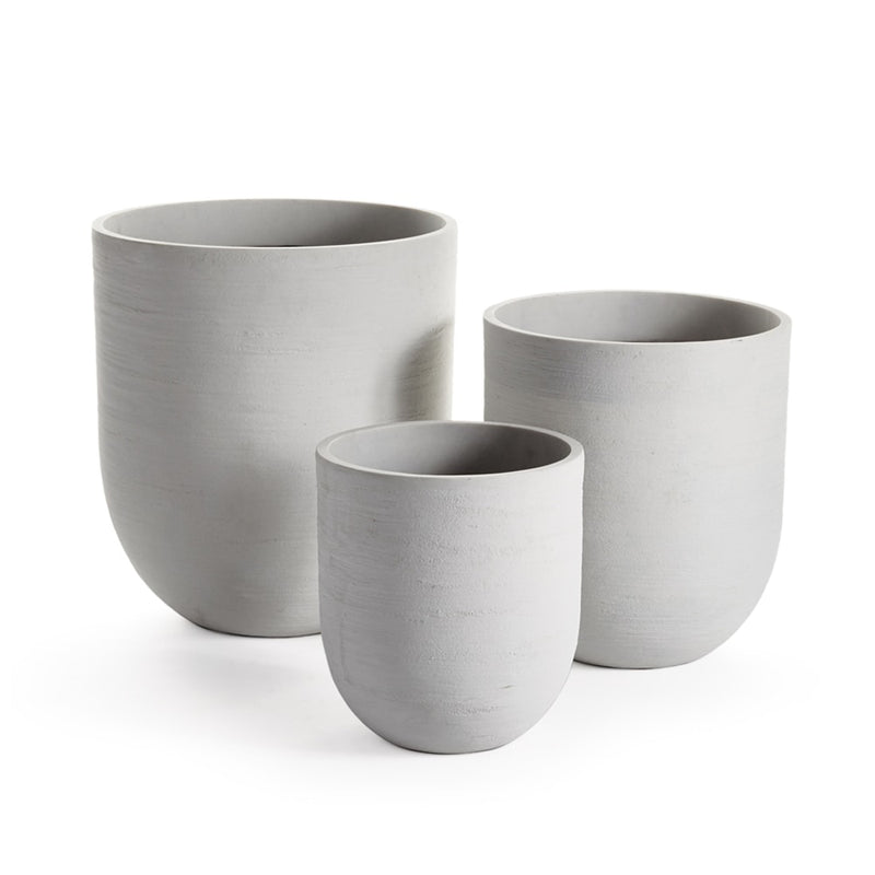 "Fibrestone Malibu Cylinder Pots "" Set of 3 by Napa Home & Garden"