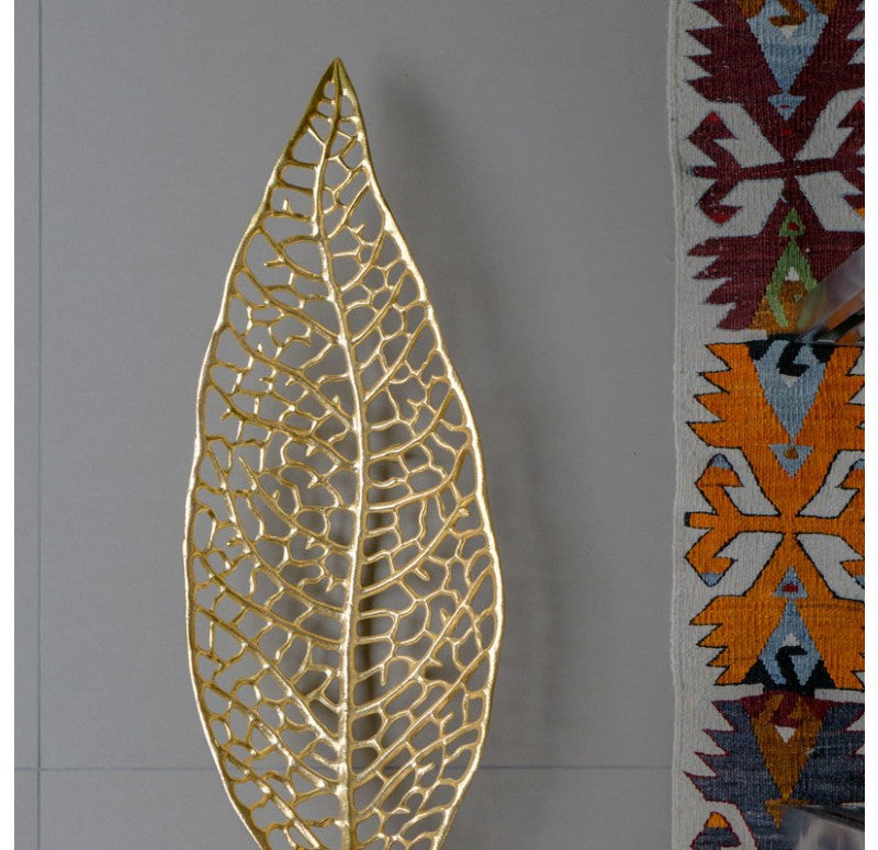 Gold Leaf Design Group Skeleton Leaf Bowl