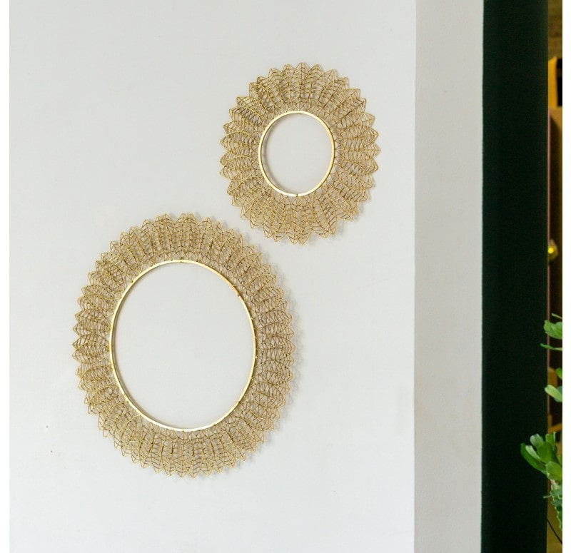 Wire Leaf Disc Wall Art by Gold Leaf Design Group