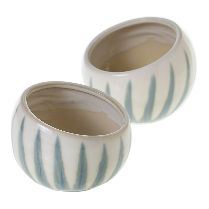 Aloe Angled Bowl Set of 8 By Accent Decor