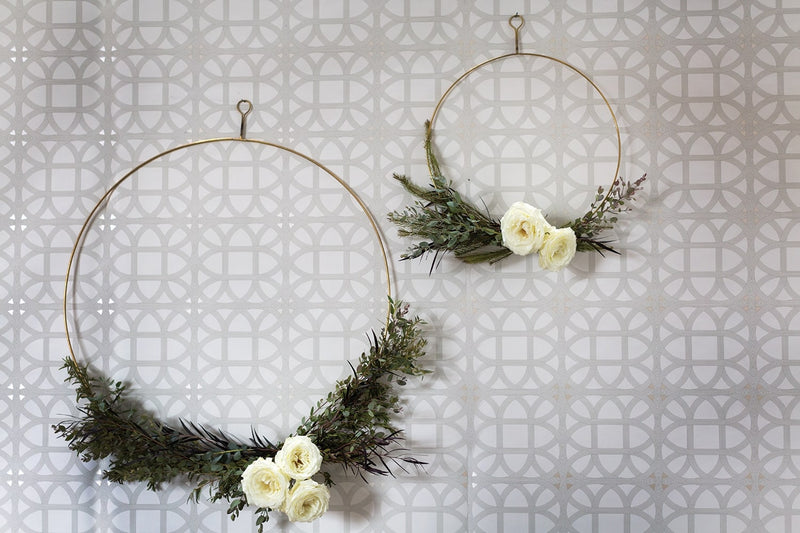 Peace Brass Wreath Set of 6 by Accent Decor