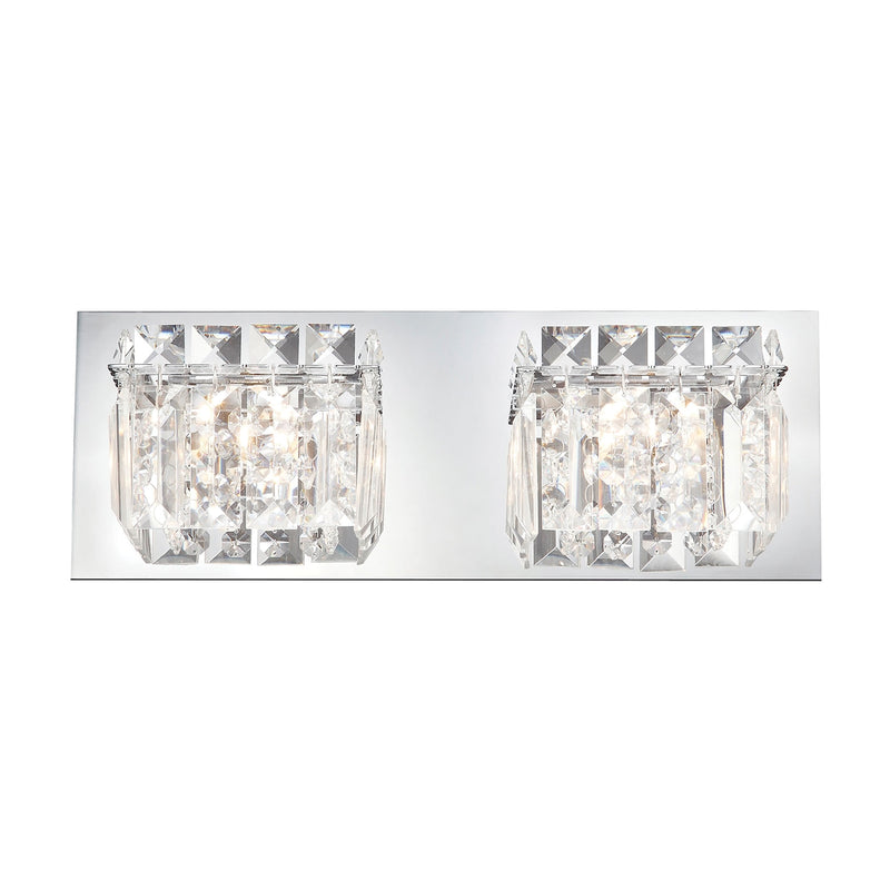 Crown 2-Light Vanity Sconce in Chrome with Clear Crystal ELK Lighting
