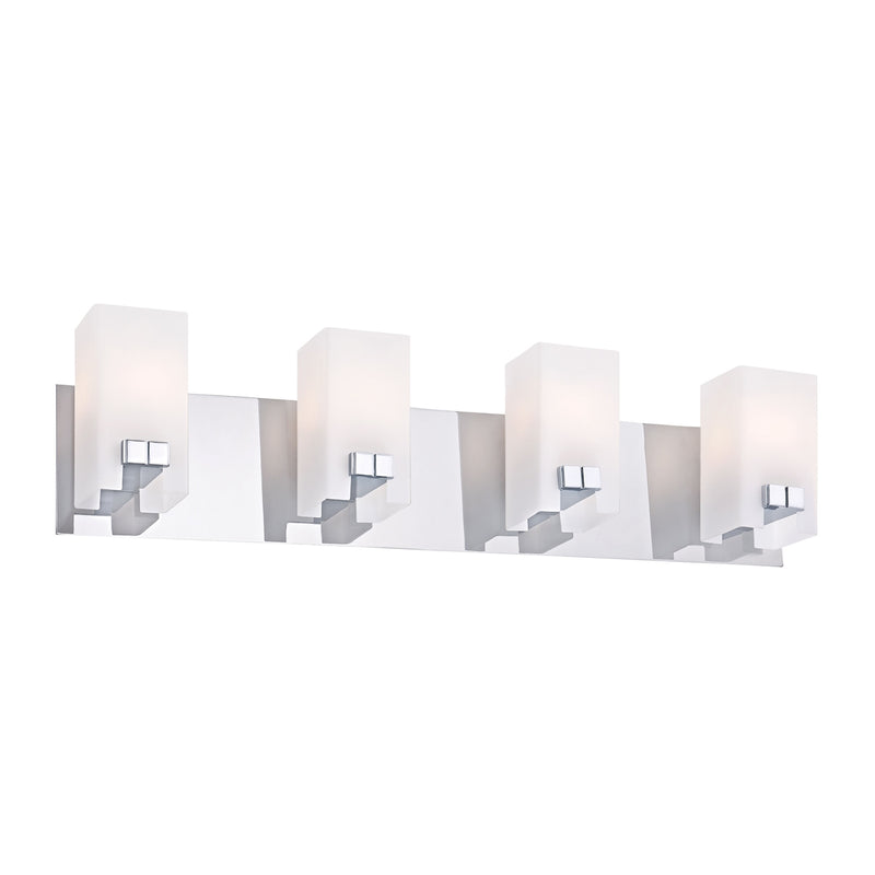 Gemelo 4-Light Vanity Sconce in Chrome with White Opal Glass ELK Lighting