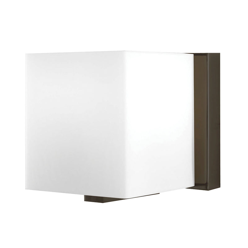 Borg 1-Light Vanity Sconce in Oil Rubbed Bronze with Hand-formed White Opal Glass ELK Lighting