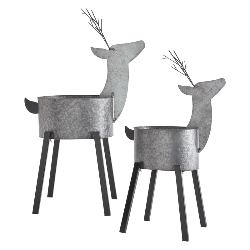 Caribou Plant Stand Set of 2 by Accent Decor