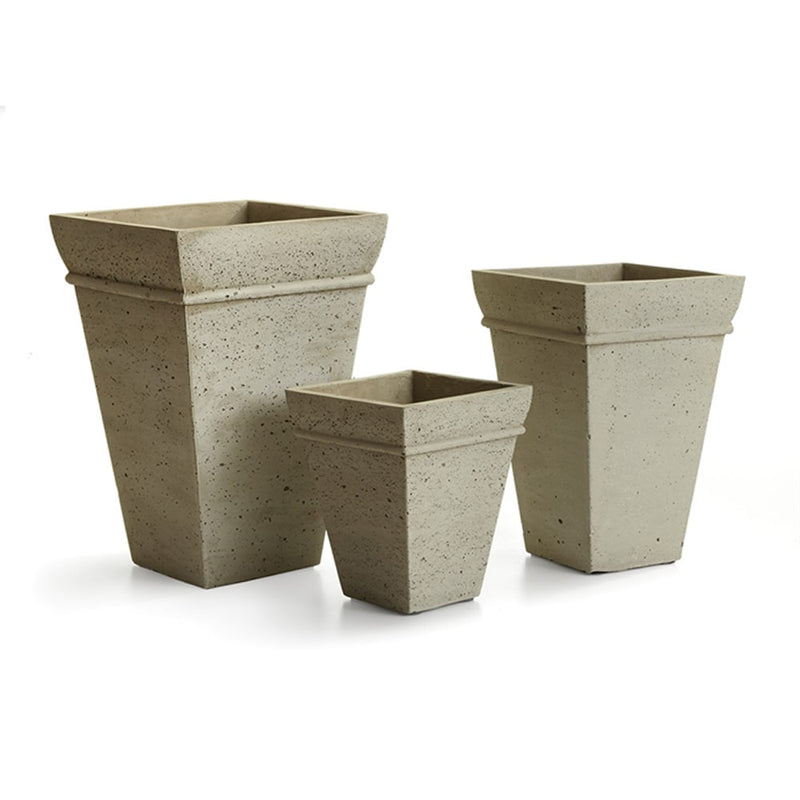 "Concretelite Cailen Square Tall Pots "" Set of 3 By  Napa Home & Garden"
