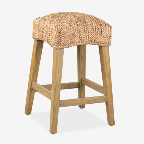 Quinn Driftwood/Waterhyacinth Counter Stools (K/D), Natural Set of 2 by Jeffan