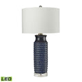 Dimond Lighting Wrapped Rope Ceramic Table Lamp in Navy Blue Table Lamps, Dimond Lighting, - Modish Store