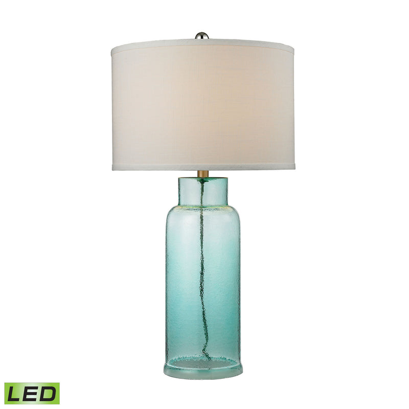 Dimond Lighting Glass Bottle Small Table Lamp in Seafoam Green Table Lamps, Dimond Lighting, - Modish Store