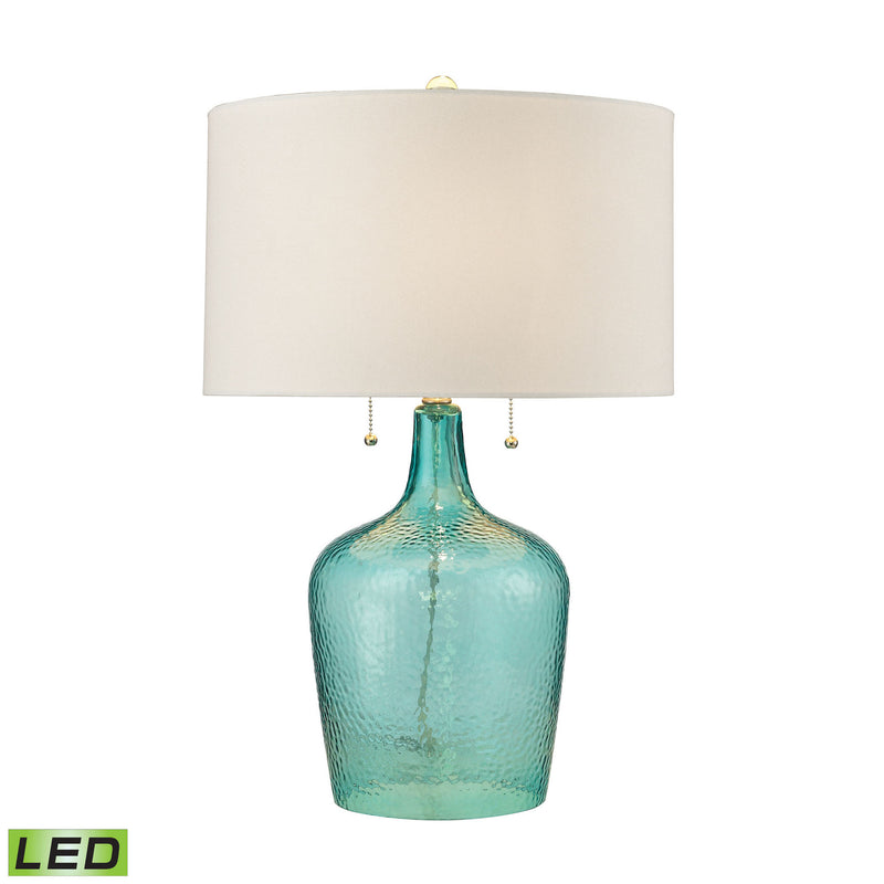 Dimond Lighting Hatteras Hammered Glass Table Lamp in Seabreeze Table Lamps, Dimond Lighting, - Modish Store