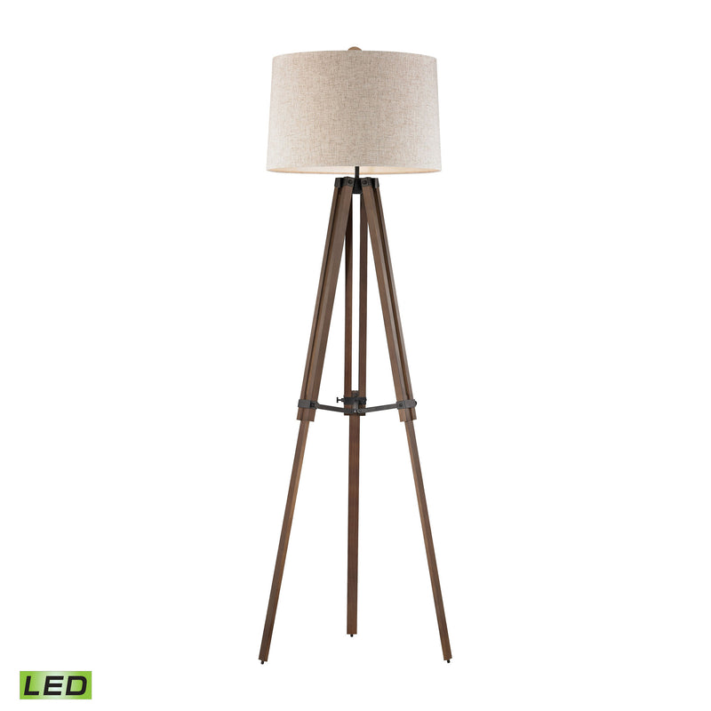 Dimond Lighting Wooden Brace Tripod Floor Lamp Floor Lamps, Dimond Lighting, - Modish Store
