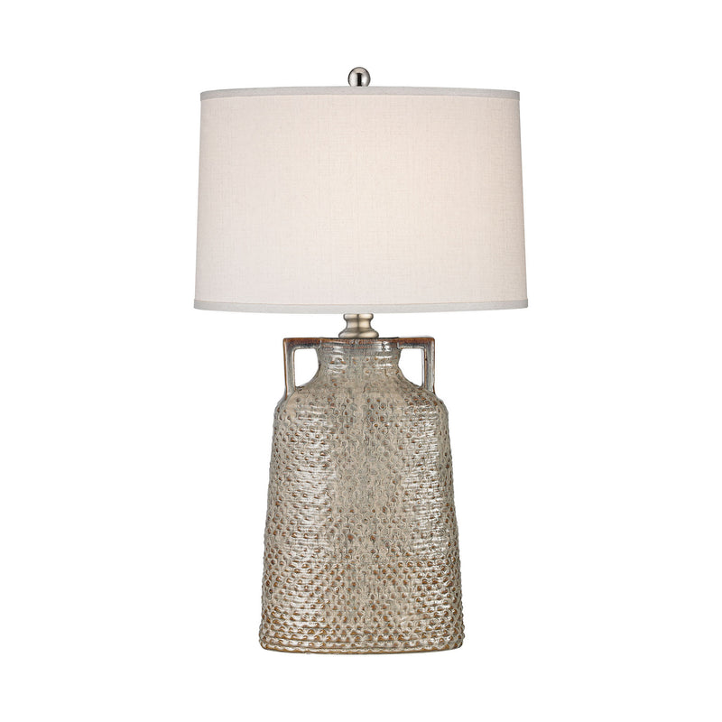 Dimond Lighting Naxos 1 Light Table Lamp In Charring Cream Glaze Table Lamps, Dimond Lighting, - Modish Store