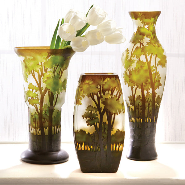 Tozai Home S 3 Landscapes Hand Etched Vases Modish Store