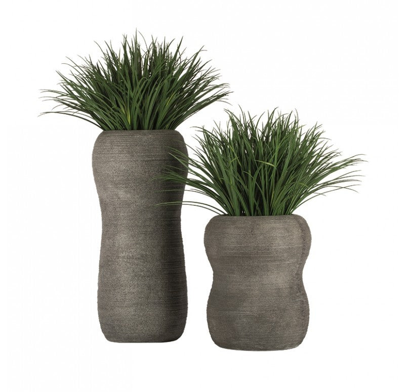 Grass: Liriope in Naoshima Planter, MD by Gold Leaf Design Group