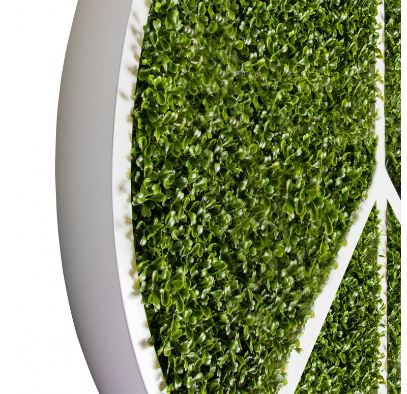 Green Wall, Peace w/ Boxwood by Gold Leaf Design Group