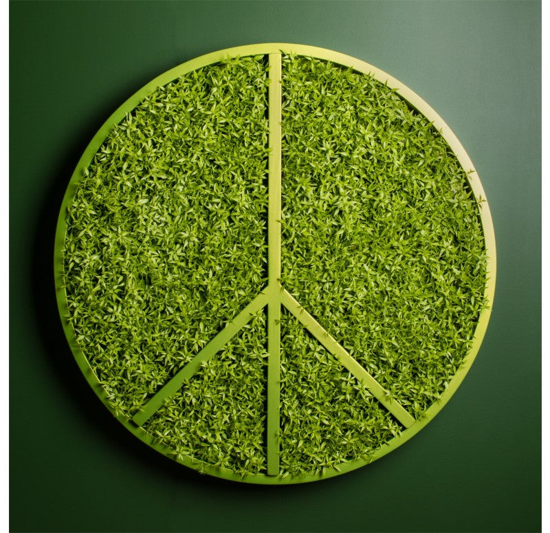 Green Wall, Peace w/ Mini Leaf by Gold Leaf Design Group