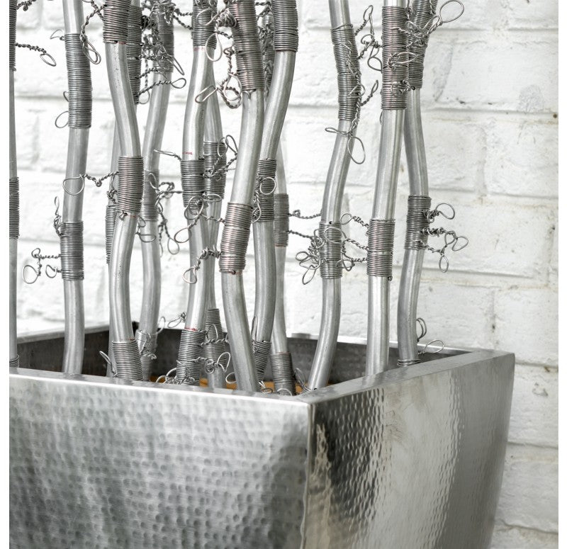 Fantasy Branches in Stainless Flared Planter by Gold Leaf Design Group