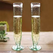 Kalalou Tall Recycled Champagne Flute