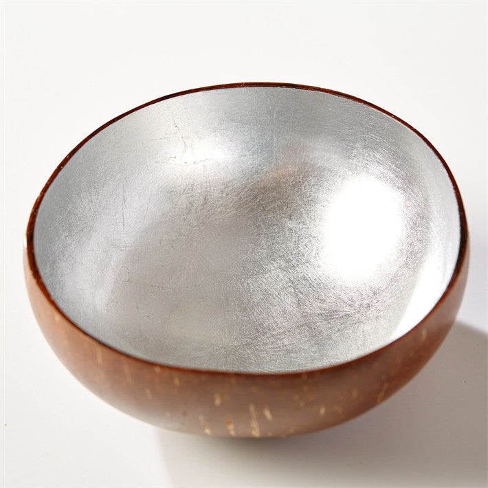 Tozai Shimmering Foil Lacquered Coconut Bowl - Set Of 16