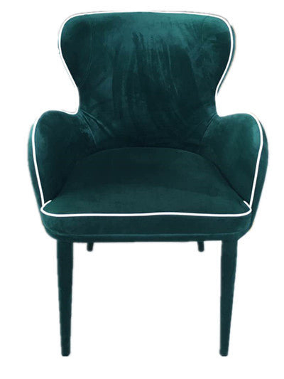 Vig Furniture Modrest Tigard Modern Green Fabric Dining Chair