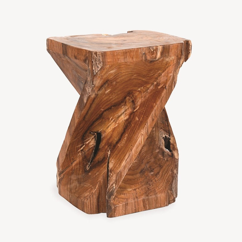Forebay Recycled Teakwood Stool  by Jeffan