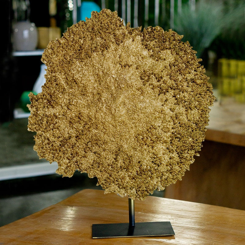 Gold Leaf Design Group Coral Sculpture Gold