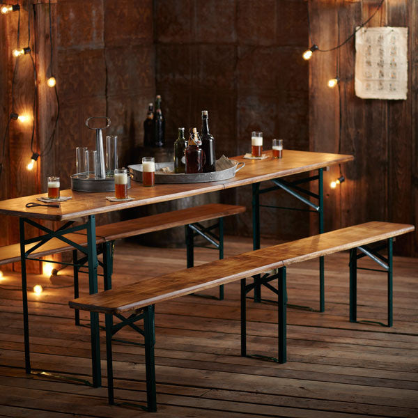 Roost Biergarten Folding Table & Benches