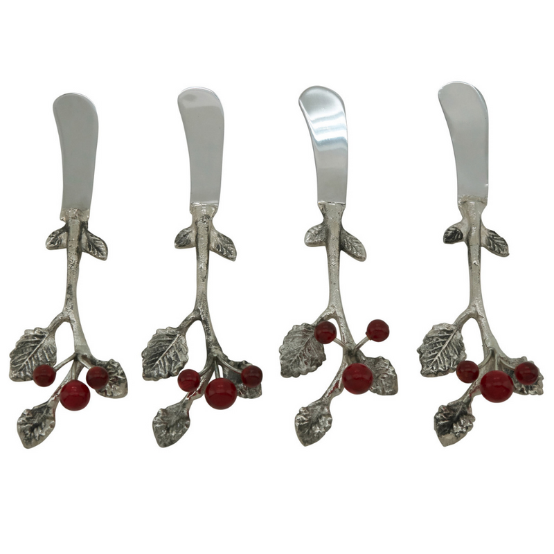 Holly Berry Cocktail Knife - Set of 4 by Saro