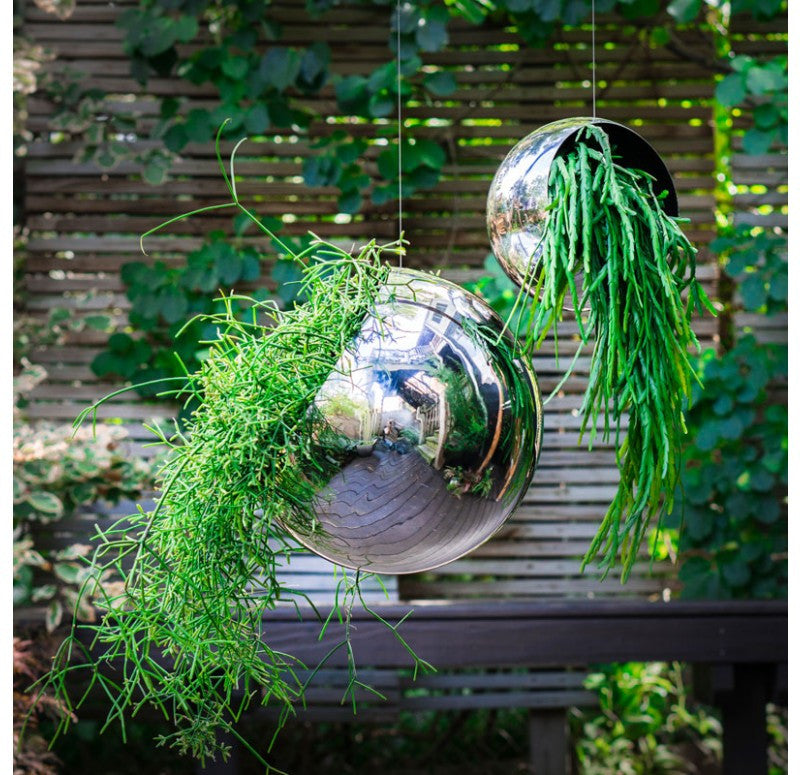 Gold Leaf Design Group Hanging Orb Planters