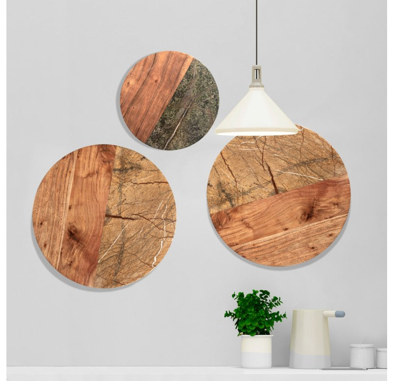 Stone & Wood Wall Art Set of 2 by Gold Leaf Design Group
