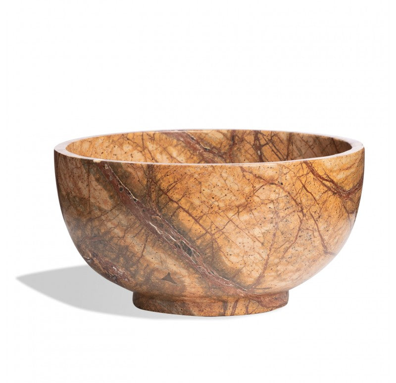 Bowl, Forest Brown Stone by Gold Leaf Design Group