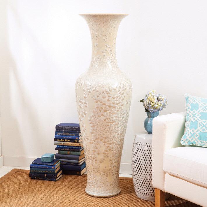 Tozai Home Long Necked Vase with MOP effect