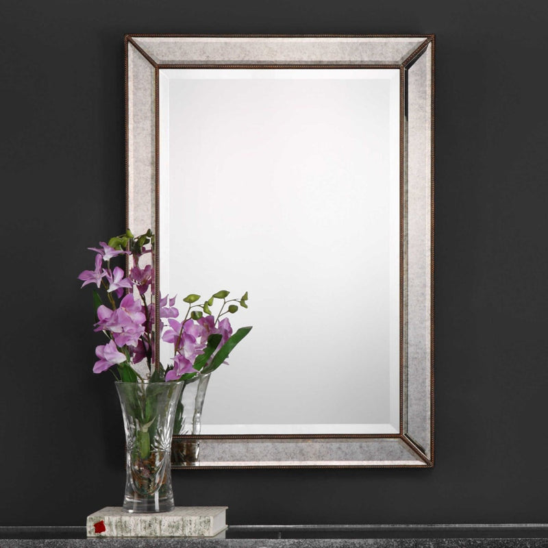 Bevel Antique Mirror By Modish Store