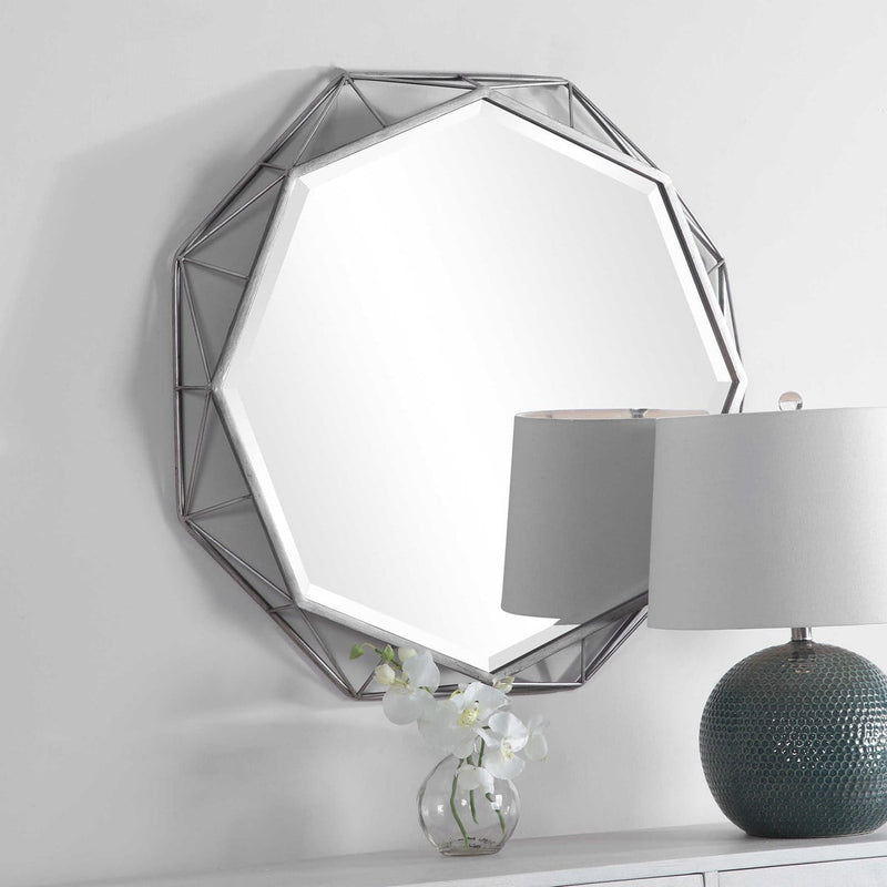 Iron Light Burnished Silver Mirror By Modish Store