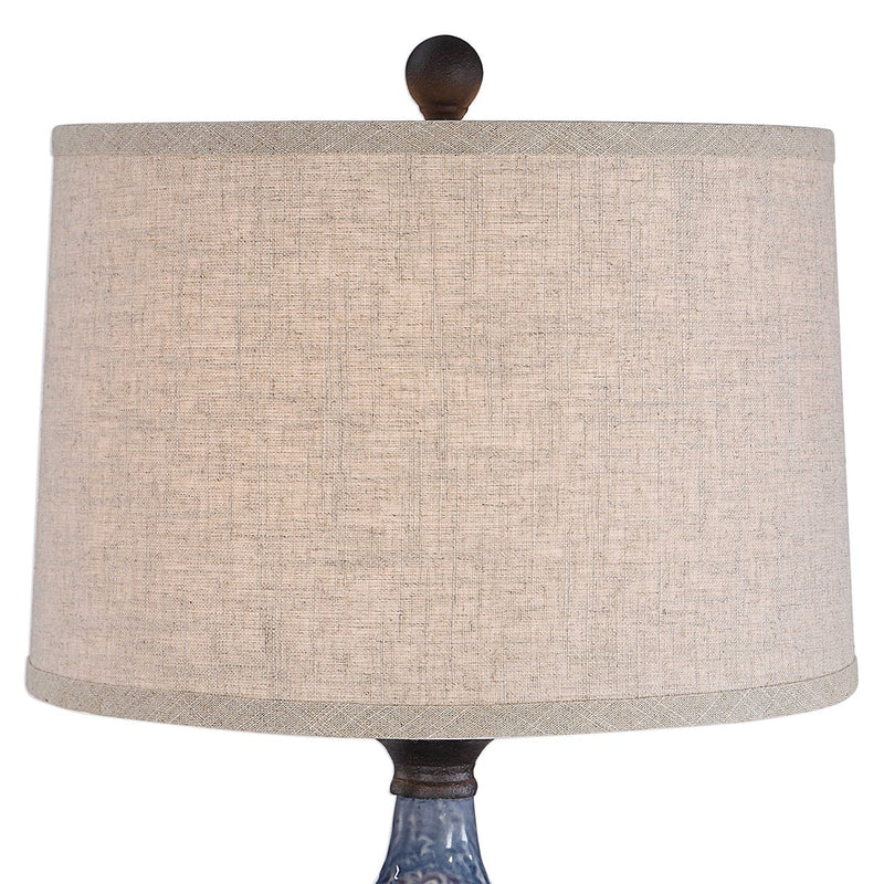 Blue/Heavy Dark Khaki Bronze Distressing Table Lamps by Modish Store
