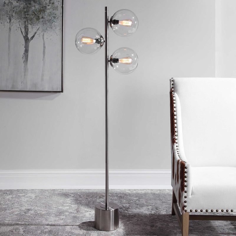 Clear Glass Globes Floor Lamps by Modish Store