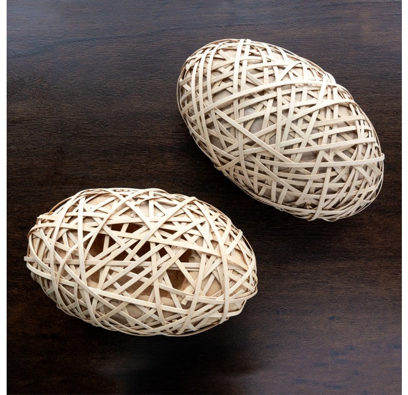Bamboo & Wood Sculpture Set of 2 by Gold Leaf Design Group